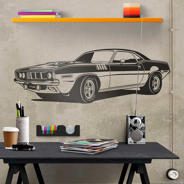 Stickers muraux: Ford Mustang Muscle Car 0