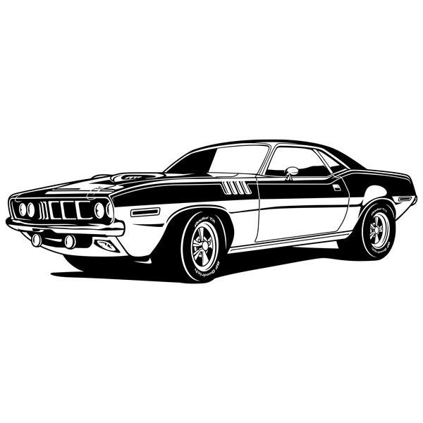 Stickers muraux: Ford Mustang Muscle Car