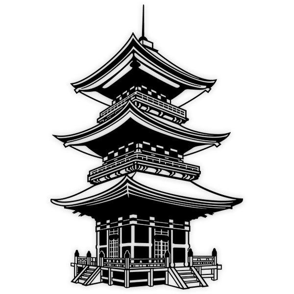 Stickers muraux: Temple bouddhiste au Japon