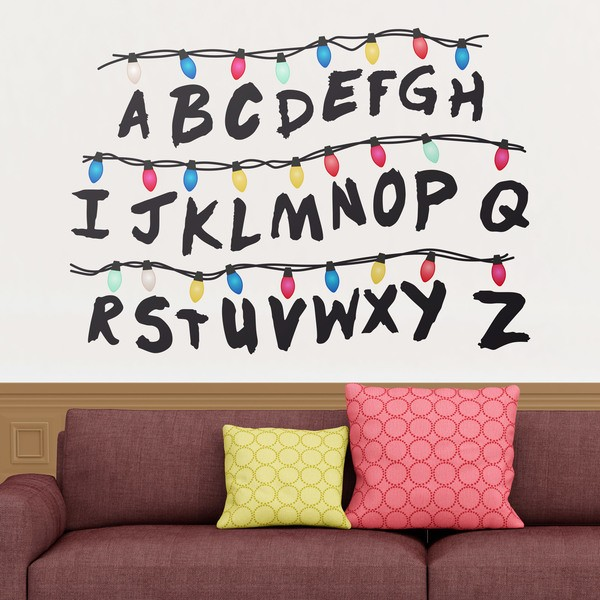 Stickers muraux: Stranger Things alphabet