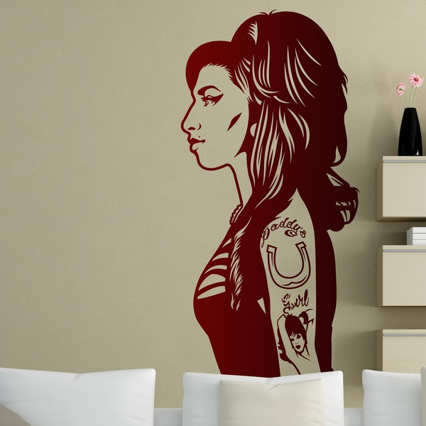 Stickers muraux: Amy Winehouse