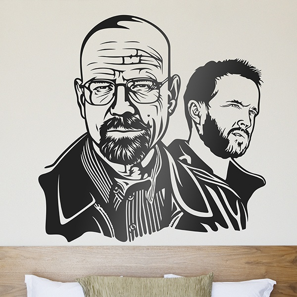 Stickers muraux: Breaking Bad Walter White et Jesse Pinkman