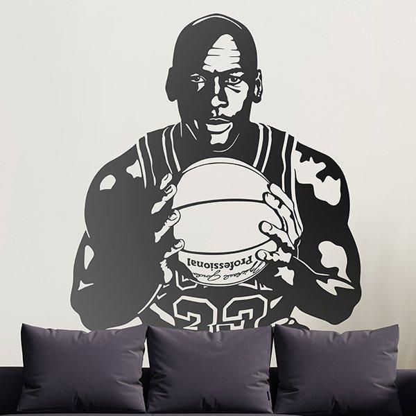 Michael Jordan avec un ballon