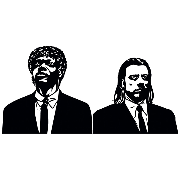 Stickers muraux: Pulp Fiction, Vincent et Jules
