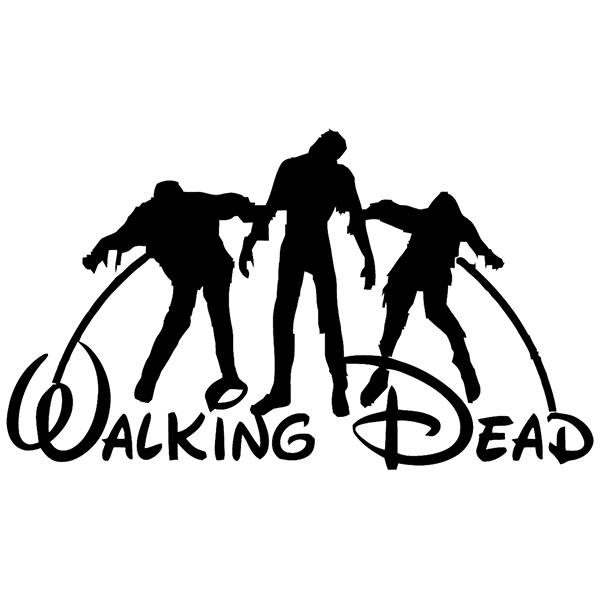 Stickers muraux: Walking dead Disney