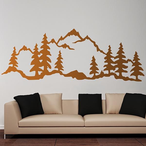 sticker mural for t de montagne. Black Bedroom Furniture Sets. Home Design Ideas
