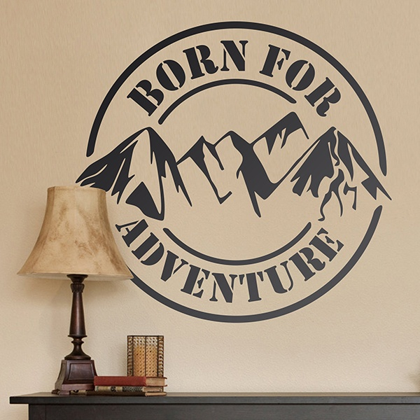 Stickers muraux: Born for Adventure