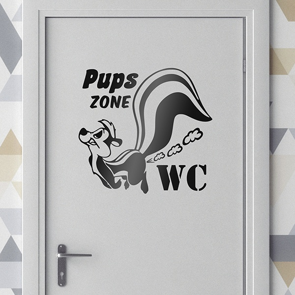 Stickers muraux: Pups zone WC