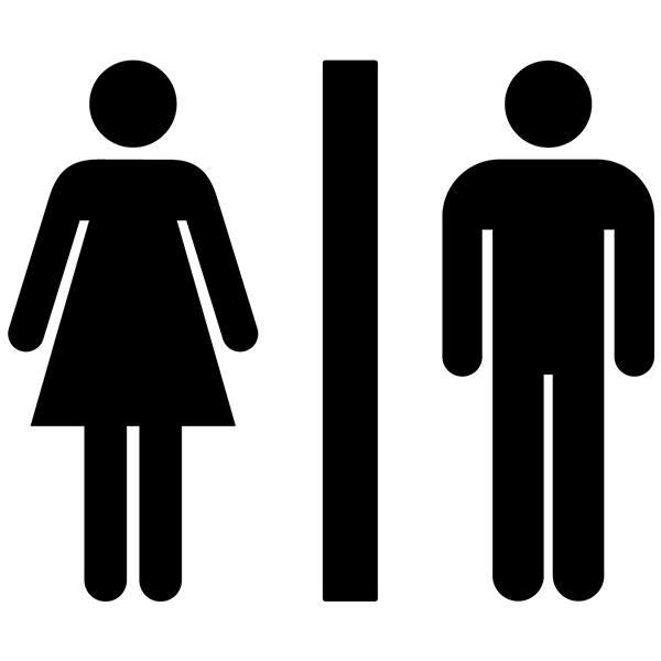 sticker muraux toilettes ic nes de wc. Black Bedroom Furniture Sets. Home Design Ideas