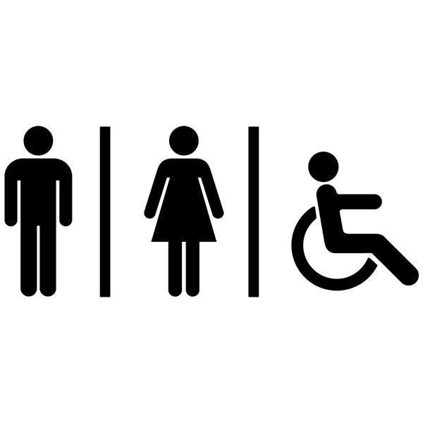 sticker muraux toilettes ic nes de wc sanitaires. Black Bedroom Furniture Sets. Home Design Ideas
