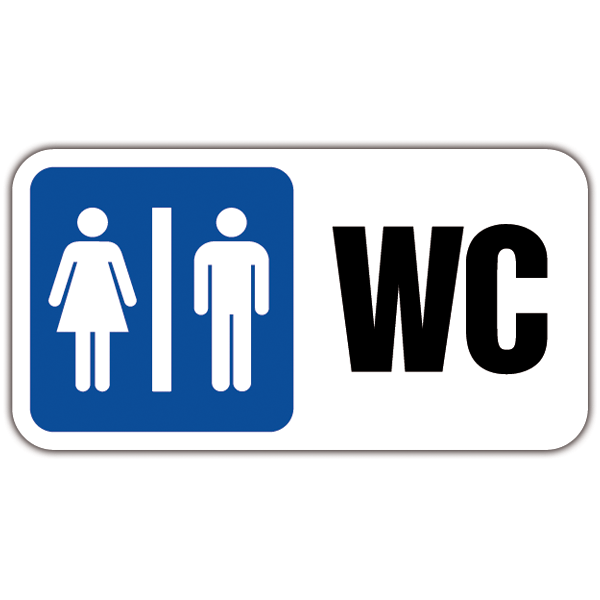 Stickers muraux: Signal WC