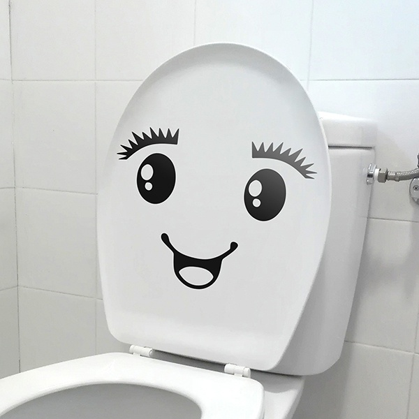 Stickers muraux: WC Smile