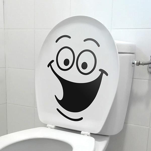 sticker muraux toilettes rires wc. Black Bedroom Furniture Sets. Home Design Ideas