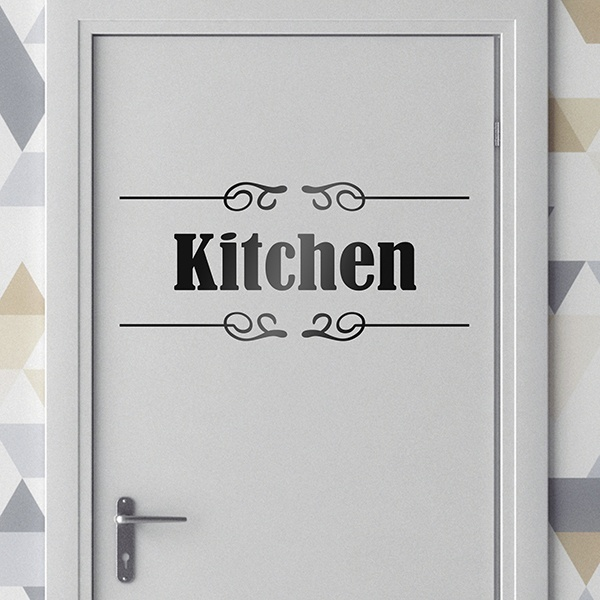 Stickers muraux: Signalisation - Kitchen