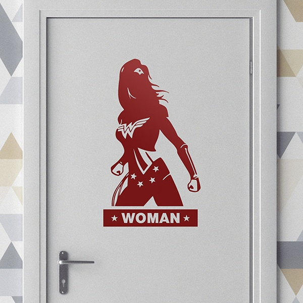 Stickers muraux: WC WonderWoman 0