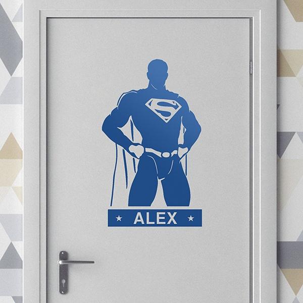 Stickers muraux pour enfants superman personnalis - Stickers muraux personnalise ...