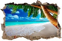 Stickers muraux: Trou Palmier sur la plage 1 3