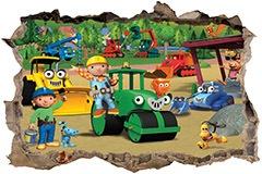 Stickers muraux: Trou Bob the builder 3