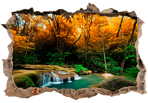 Stickers muraux: Trou Printemps dans la forêt
