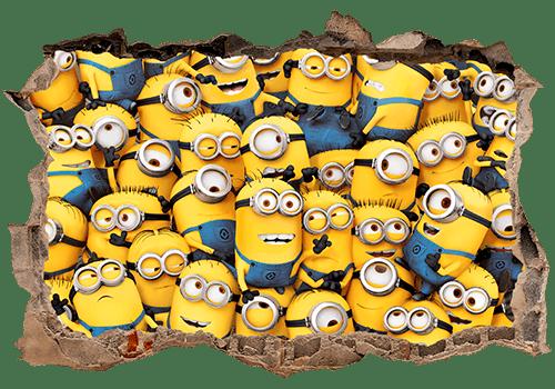 Stickers muraux: Trou Minions
