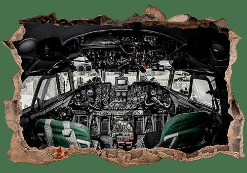 Stickers muraux: Trou Avion Cockpit