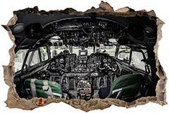 Stickers muraux: Trou Avion Cockpit 3