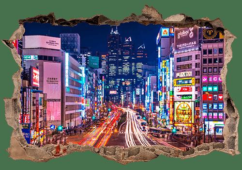 Stickers muraux: Trou Rues de Tokyo