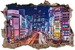 Stickers muraux: Trou Rues de Tokyo 3
