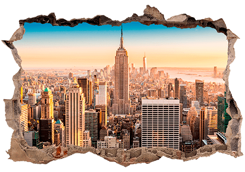 Stickers muraux: Trou New York 0
