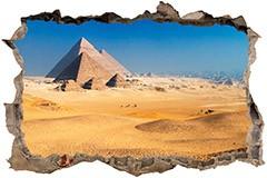 Stickers muraux: Trou Pyramides de Gizeh 3