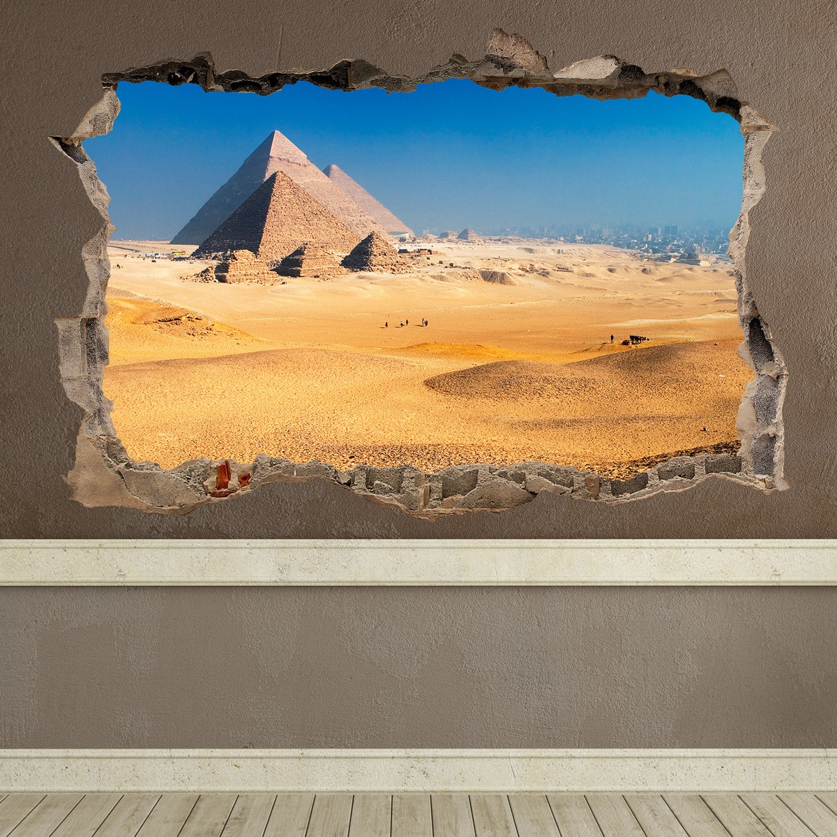 Stickers muraux: Trou Pyramides de Gizeh