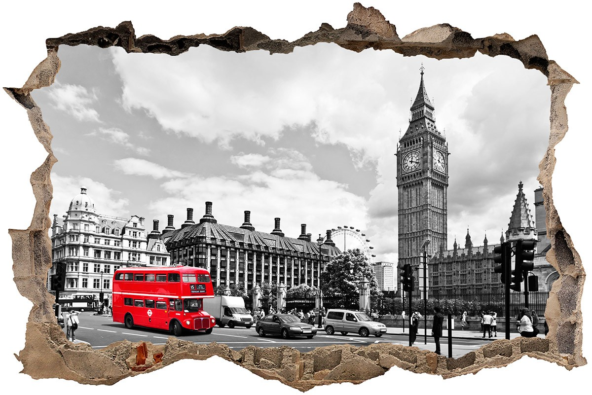 Stickers muraux: Trou Big Ben à Londres