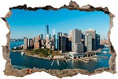Stickers muraux: Trou Vue aérienne de New York 3