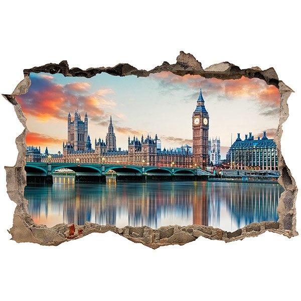 Sticker Mural Trou Londres De La Tamise