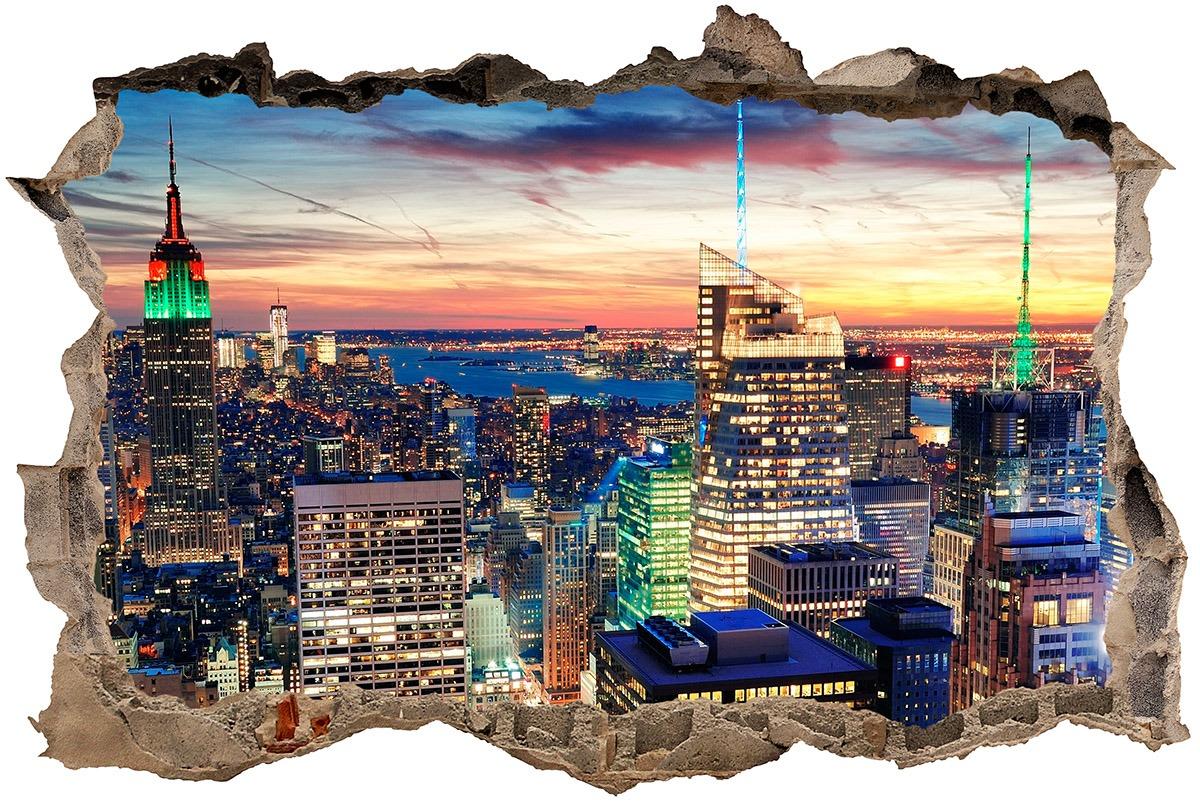 Stickers muraux: Trou Nueva York nuit