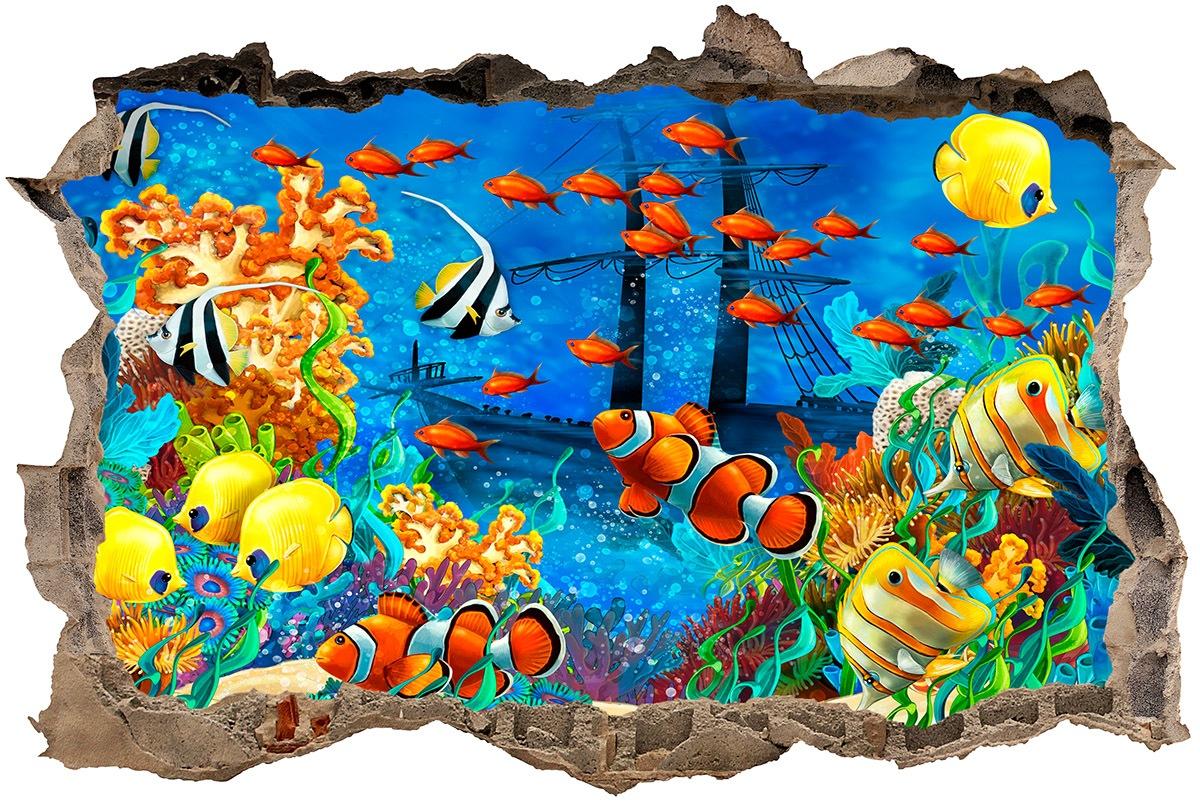 Stickers muraux: Trou Fond de la mer