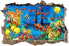 Stickers muraux: Trou Fond de la mer 3