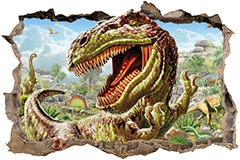 Stickers muraux: Trou Dinosaur 3