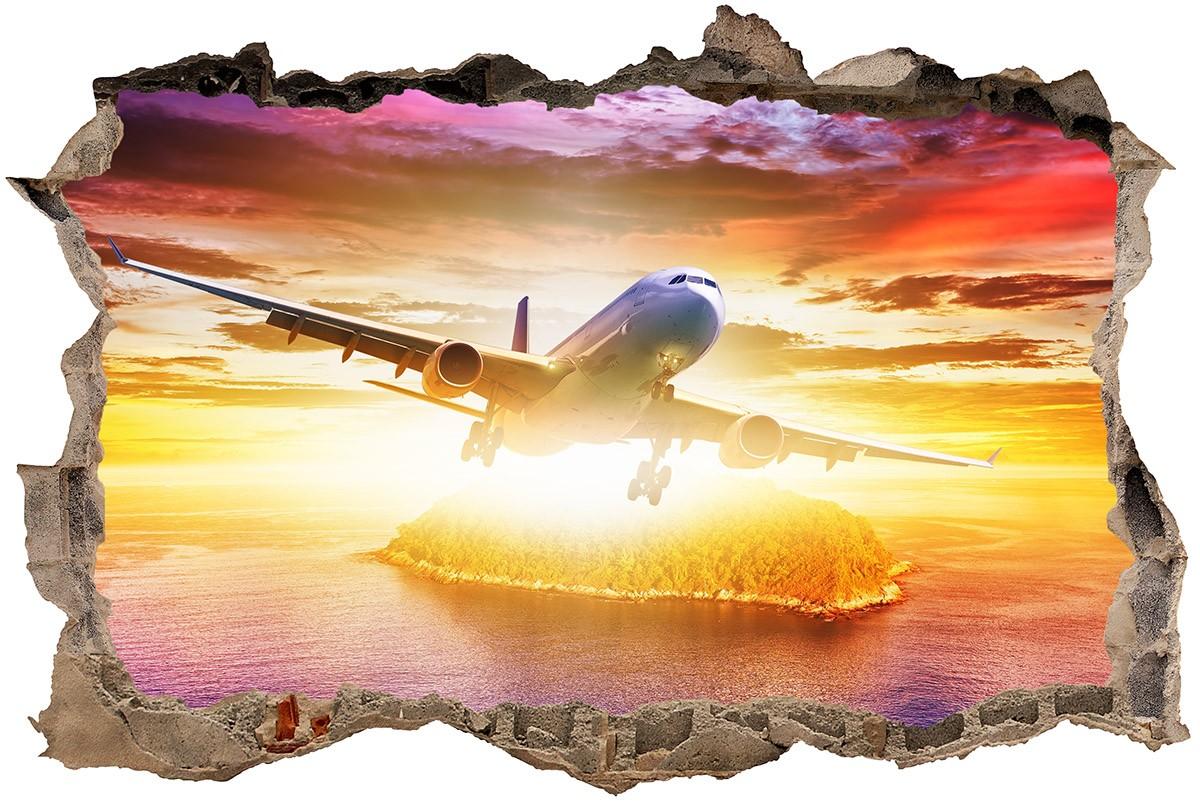 Stickers muraux: Trou Avion de ligne