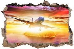 Stickers muraux: Trou Avion de ligne 3