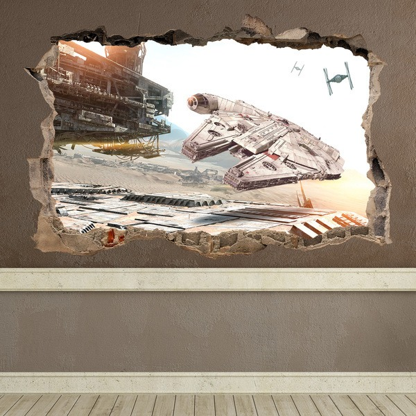 Stickers muraux: Trou Millennium Falcon Star Wars