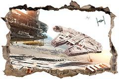 Stickers muraux: Trou Millennium Falcon Star Wars 3