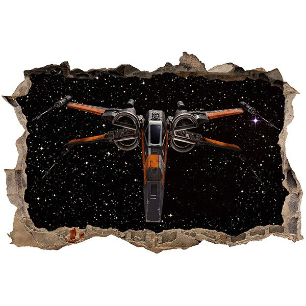Stickers muraux: Trou Chasseur Stellaire X-Wing