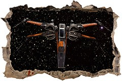 Stickers muraux: Trou Chasseur Stellaire X-Wing 3