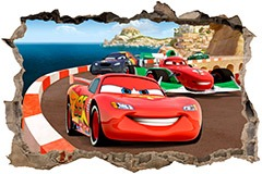 Stickers muraux: Trou Cars 3