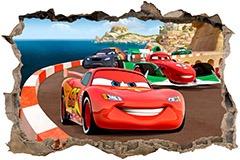 Stickers muraux: Trou Cars 3