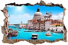 Stickers muraux: Trou Venise 3