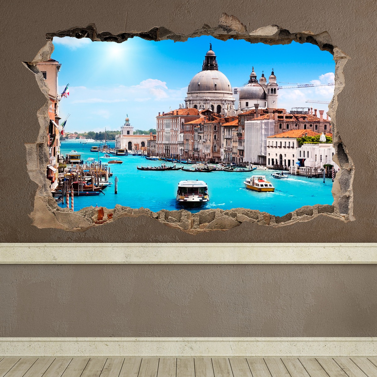 Stickers muraux: Trou Venise