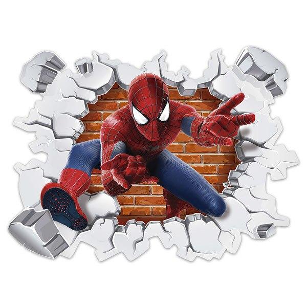 Sticker Mural Enfant Trou Dans Le Mur Spiderman Webstickersmuraux Com