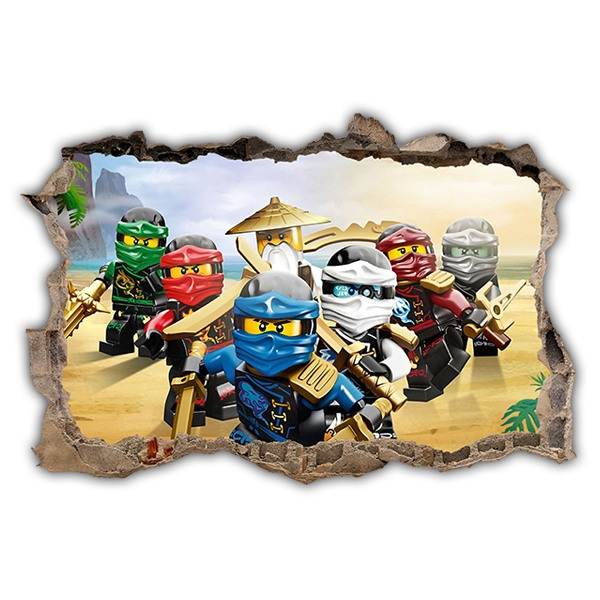 Stickers muraux: Trou Lego Team Ninjago